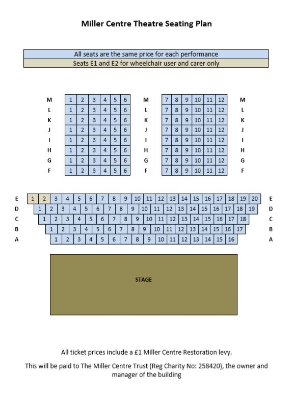 Miller Centre Seating Plan proscenium